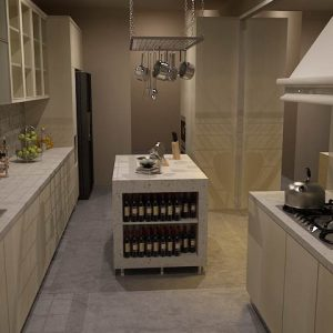 Desain kitchen set minimalis graha family