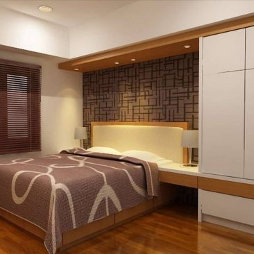 Interior master bedroom apartemen Waterplace